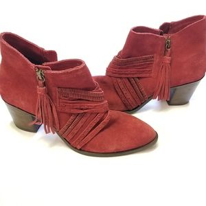 Naughty Monkey Red Leather Noah Ankle Boots